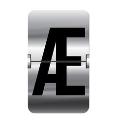 Alphabet silver flipboard letters ae vector