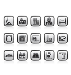 architecture and construction icons vector image