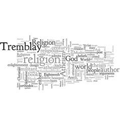 atheism in a post religious world vector image