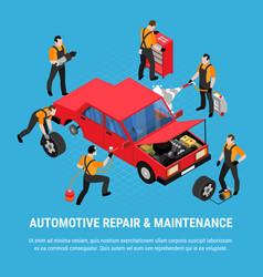 Automotive repair concept vector