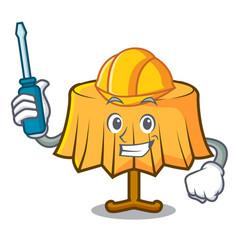 Automotive table cloth mascot cartoon vector