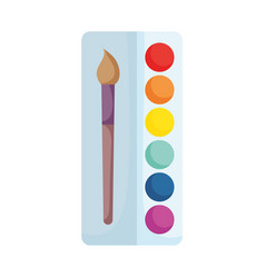 back to school palette color paintbrush supply vector image