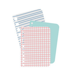 Back to school papers sheet lines grid supply icon vector