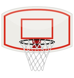 Basketball net and hoop vector