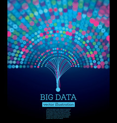 big data futuristic science background with copy vector image