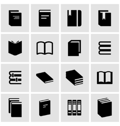 black book icon set vector image
