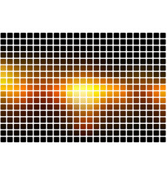 Black orange yellow abstract rounded mosaic vector