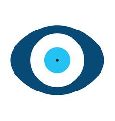 Blue evil eye in oval shape vector