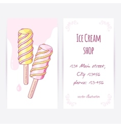 Business card template with hand drawn twisted vector