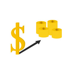 Business dollar sign and money vector