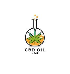 Cbd oil lab vector