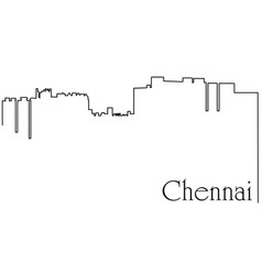 chennai city one line drawing vector image