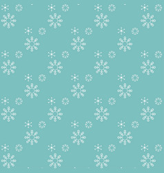 chrismtas pattern of snow flakes vector image