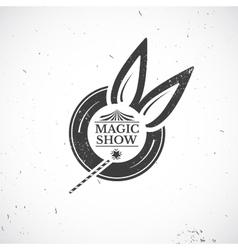 Circus vintage magic show vector