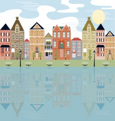 City with water view vector
