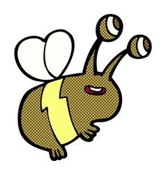 Comic cartoon happy bee vector