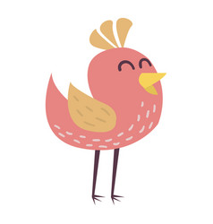 cute bird cartoon colorful vector image