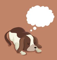 cute dog pet sleep dream vector image
