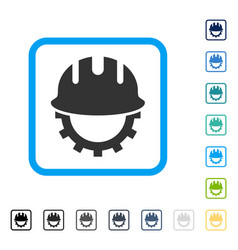 development hardhat framed icon vector image