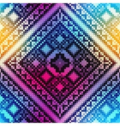 Embroidery pattern on blurred background vector