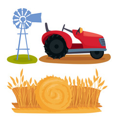 farm nature agronomy equipment vector image