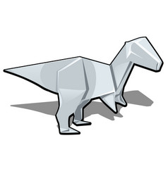 Figure of a dinosaur in origami style isolated on vector