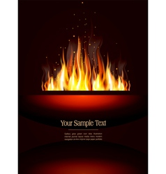 fire poster vector image