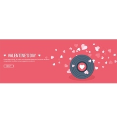 flat musical background vector image