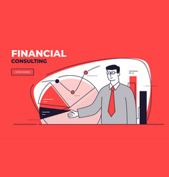 flat style on a financial vector image