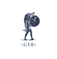 geb egyptian god of the earth vector image