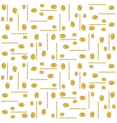 golden glittering pattern gold seamless pattern vector image