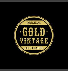 Golden logo vintage for business luxury glamour vector