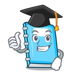Graduation education character cartoon style vector