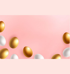 happy easter pastel background vector image