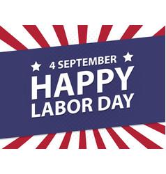 Happy labor day usa retro vintage poster vector