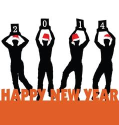 Happy new 2014 year vector