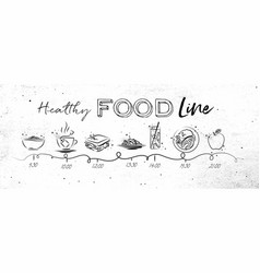 Healthy food timeline vector