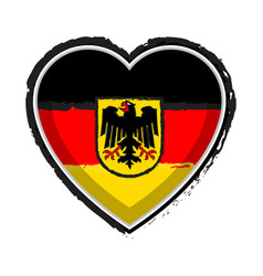 Heart shaped flag of germany vector