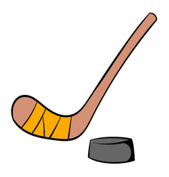 hockey icon cartoon vector image