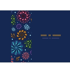 Holiday fireworks frame horizontal seamless vector image