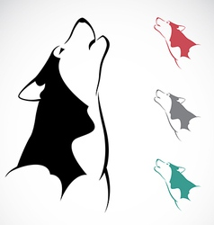 image of an wolf vector image