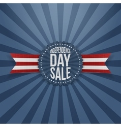 Independence Day Sale textile Badge vector image