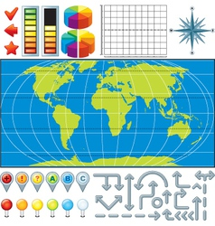 Infographics Global Business Finance vector image
