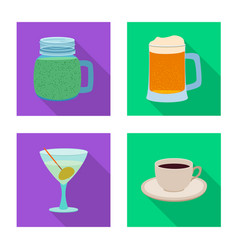 isolated object of drink and bar symbol vector image