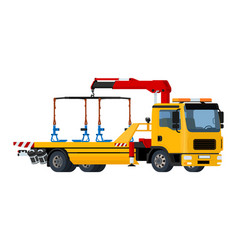 Isolated yellow tow truck vector