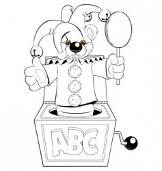 Jester in box vector