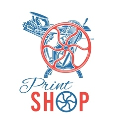 Letterpress print shop vector