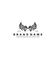 Logo design winged dragon vector