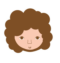 man face with curly hair icon vector image