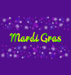 mardi gras theme banner or greeting card vector image